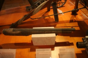 Eine Hakenbüchse mit Kolben aus der Kaiserburg in Nürnberg