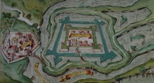 Stadt und Burg Spandau auf einem Stich von 1604